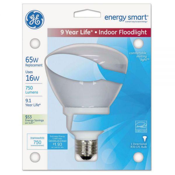 GE Energy Smart Indoor Floodlight Fluorescent Light Bulb, R30, 750 lm, Soft White