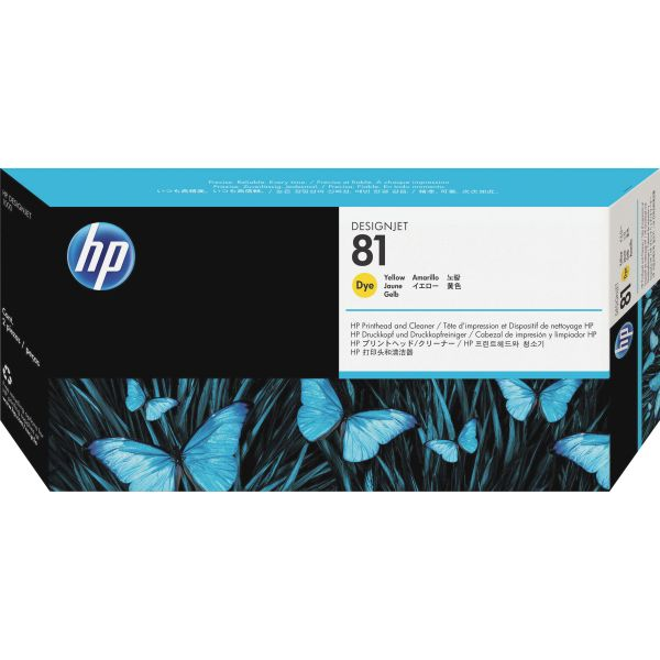 HP 81 Yellow Printhead & Cleaner (C4953A)