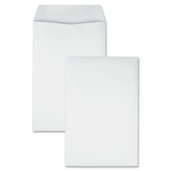 Quality Park Redi Seal Catalog Envelope, #55, 6 x 9, White, 100/Box