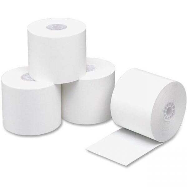 "PM Company Paper Rolls, One Ply Adding Machine/Calculator, 2 1/4"" x 150 ft, White, 100/CT"