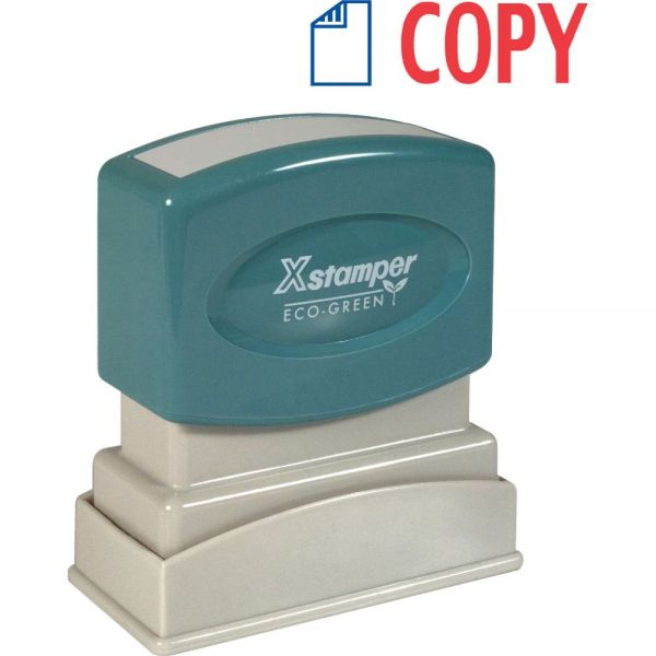 Xstamper Red/Blue COPY Title Stamp