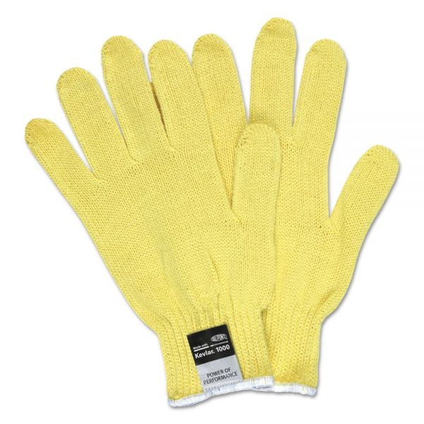 MCR Safety 9370 Dupont Kevlar String Knit Gloves, 7 gauge, Yellow, Large, 1 Dozen