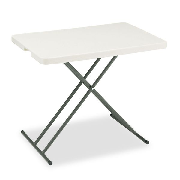 Iceberg IndestrucTables Too 1200 Series Resin Personal Folding Table, 30 x 20, Platinum