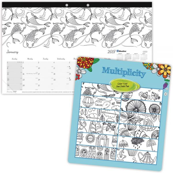 Blueline Multiplicity Design Monthly Desk Pad