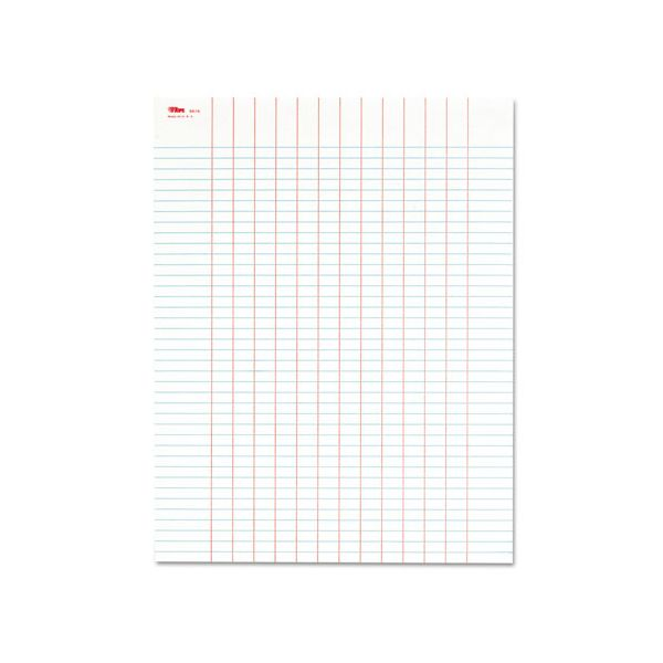 TOPS Data Pad with Plain Column Headings, 8 1/2 x 11, White, 50 Sheets