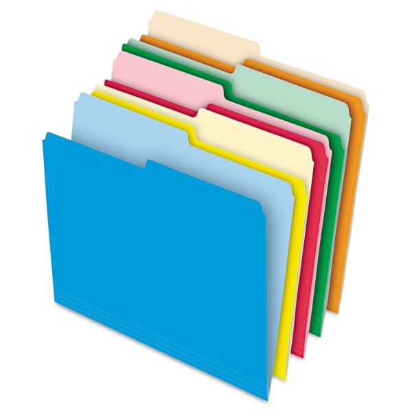 Pendaflex Reversible Colored File Folders with Stretch Tab