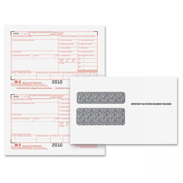 TOPS W-2 Tax Form/Envelope Kit