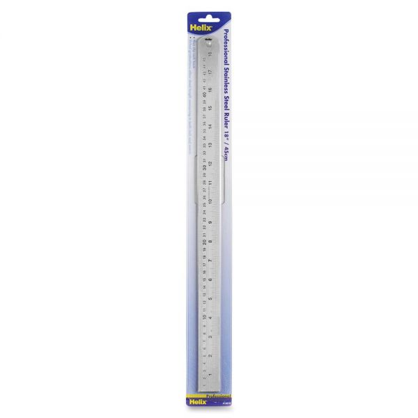 Helix Stainless Steel Professional Ruler