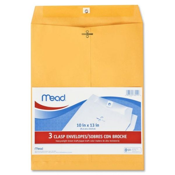 "Mead 10"" x13"" Clasp Envelopes"