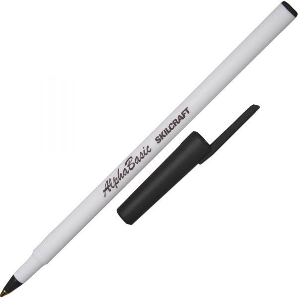 SKILCRAFT Alpha Basic Round Stick Ballpoint Pens