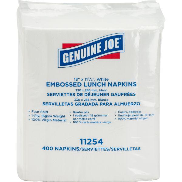 Genuine Joe Embossed Paper Lunch Napkins