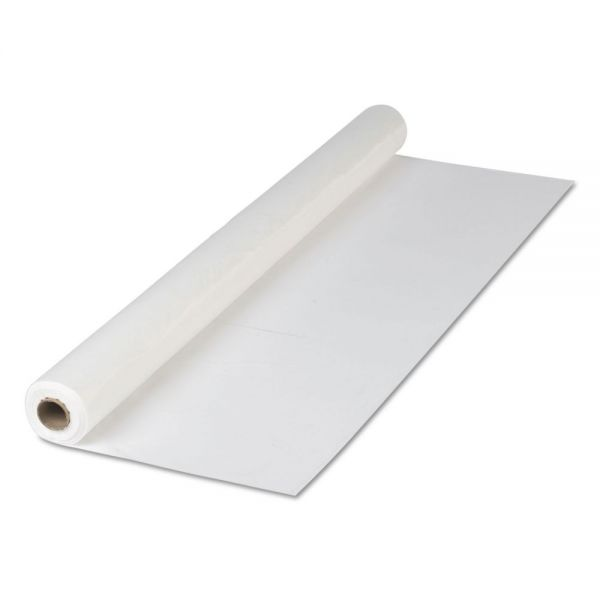 "Hoffmaster Plastic Roll Tablecover, 40"" x 300 ft, White"