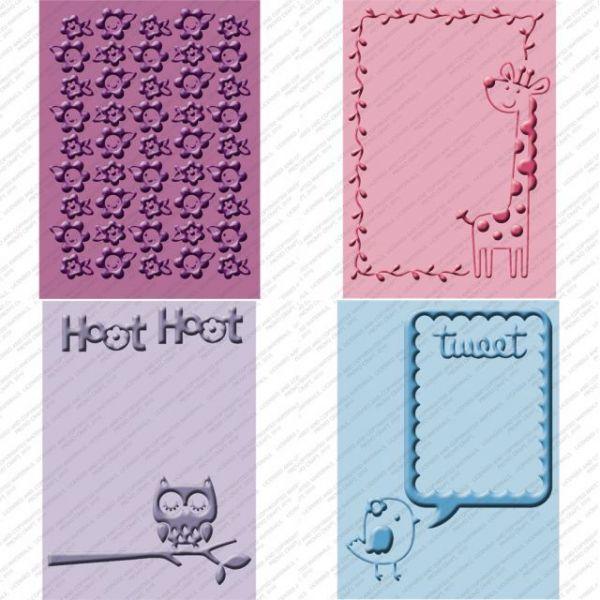 Cuttlebug Cricut Companion Embossing Folders 4/Pkg
