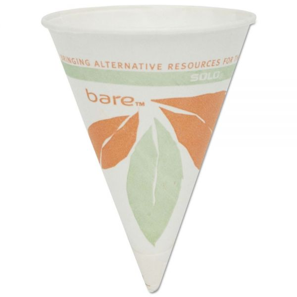 SOLO Eco-Forward 4 oz Paper Cone Cups
