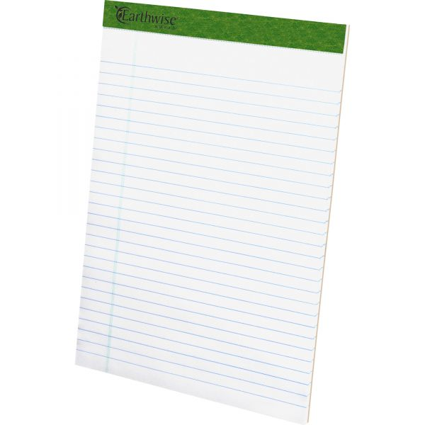 Ampad Earthwise by Ampad Recycled Writing Pad, 8 1/2 x 11 3/4, White, Dozen