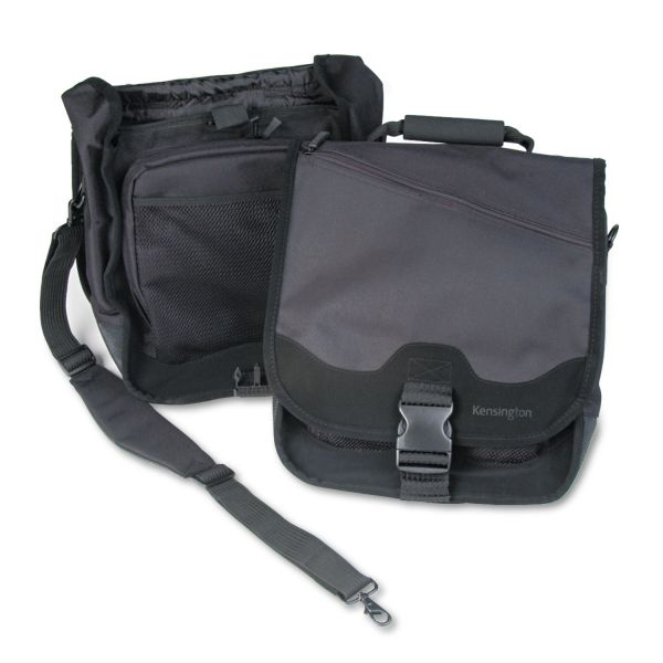 Kensington SaddleBag Notebook Carrying Case, 14-1/4 x 6-1/2 x 16-1/2, Black