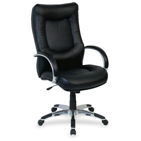 Lorell Stonebridge Leather Executive High-Back Chair