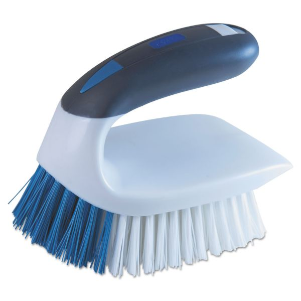 "LYSOL Brand 2-in-1 Iron Handle Brush, 2"" Bristles, 3"" Handle, White"