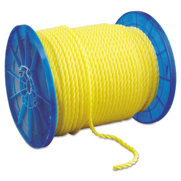 "Hooven Allison Monofilament Twisted Yellow Poly Rop, 1/2"" x 600ft"