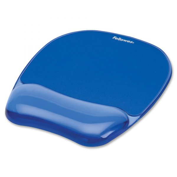 Fellowes Gel Mousepad/Wrist Rest - Crystals, Blue