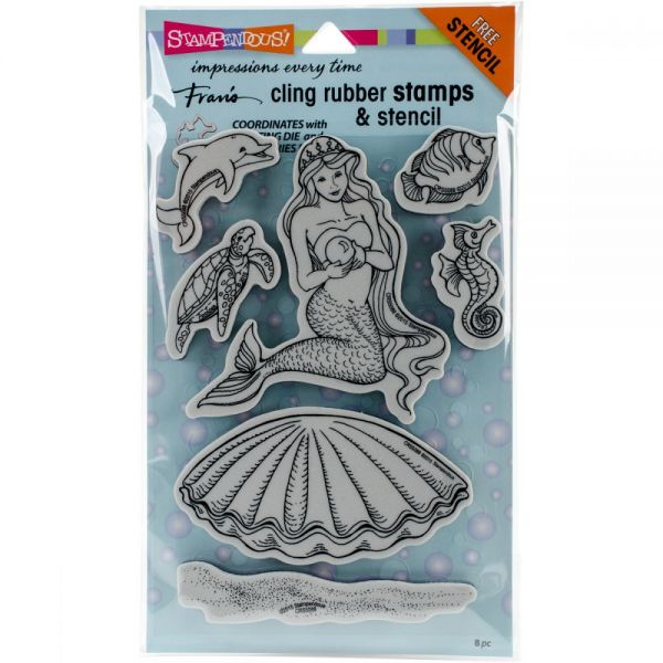 """Stampendous Fran's Cling Stamps & Stencils 5""""X7"""""""