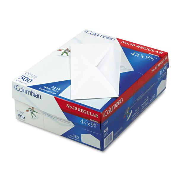 MeadWestvaco Columbian Plain White Business Envelopes