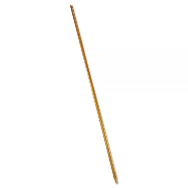 "Rubbermaid Commercial Wood Threaded-Tip Broom/Sweep Handle, 60"", Natural"
