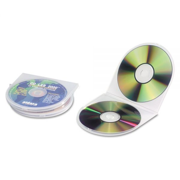 Innovera CD/DVD Storage Cases Polypropylene Sea Shell Case, Clear, 25/pk