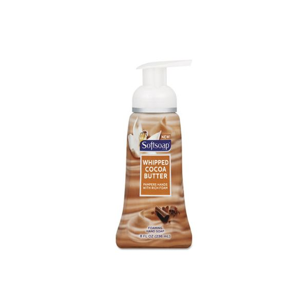 Softsoap Sensorial Foaming Hand Soap, 8 oz Pump Bottle, Whipped Cocoa Butter, 6/Carton