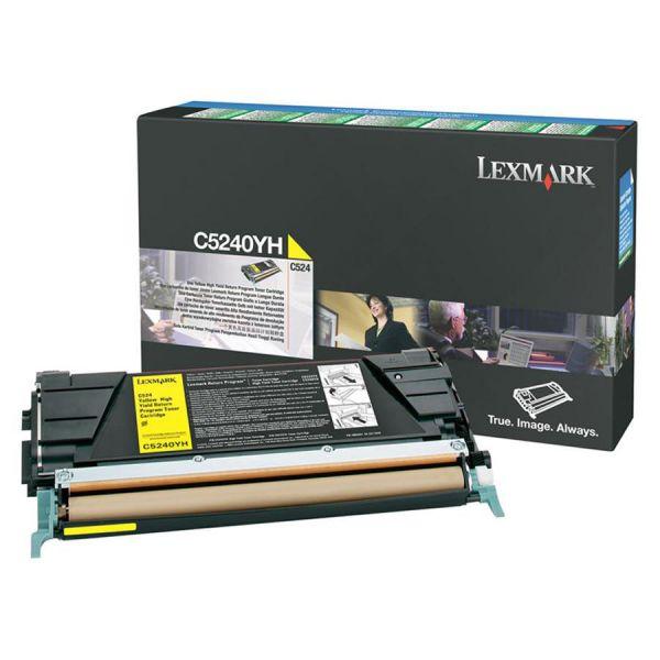 Lexmark C5240YH Yellow High Yield Return Program Toner Cartridge