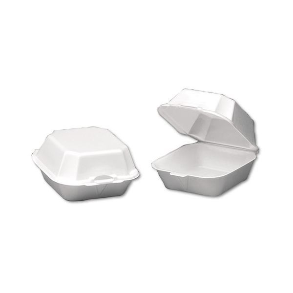 Genpak Large Takeout Foam Clamshell Sandwich Containers