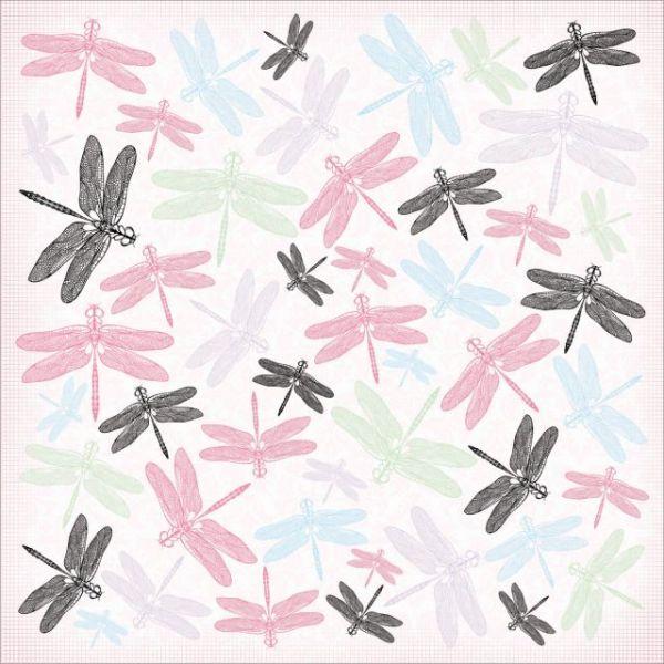 "Lavender Haze Spot Varnish Paper 12""X12"""