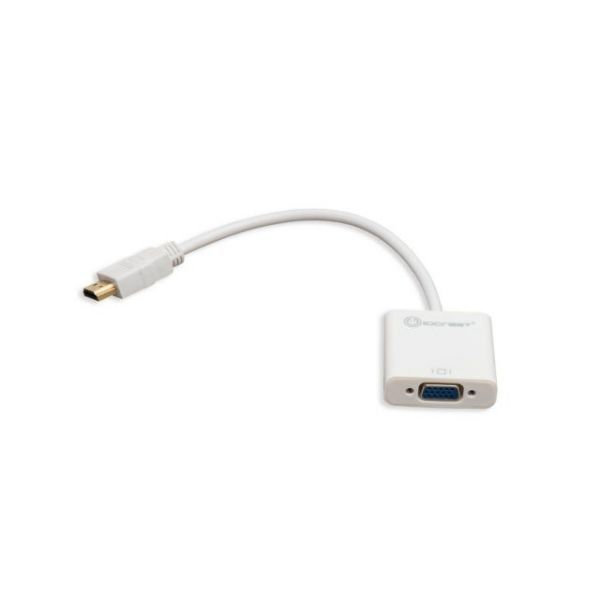 SYBA Multimedia IO Crest HDMI to VGA Adapter, with Audio Support