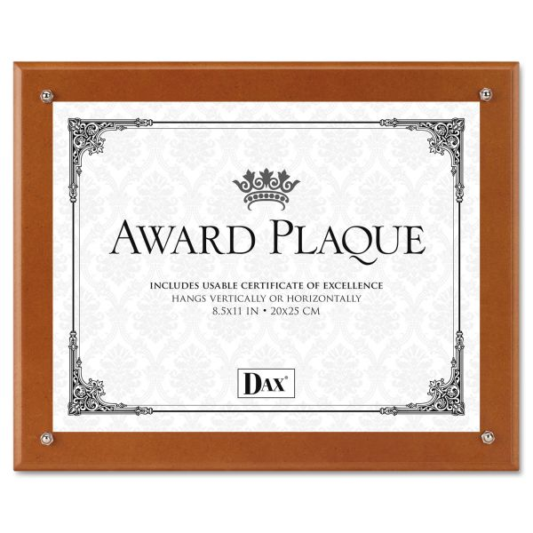 DAX Plaque-In-An-Instant Kit w/Certificates & Mats, Wood/Acrylic, 10-1/2x13, WA