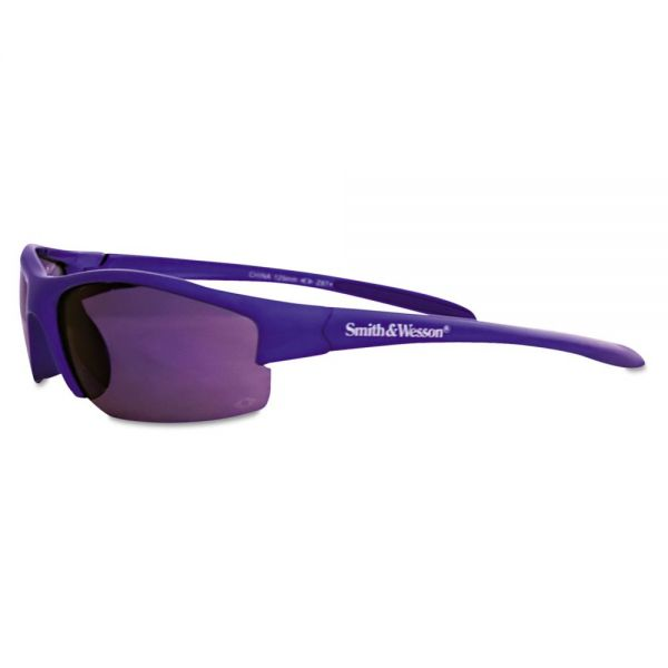 Smith & Wesson Equalizer Safety Eyewear, Blue Frame, Blue Mirror Lens