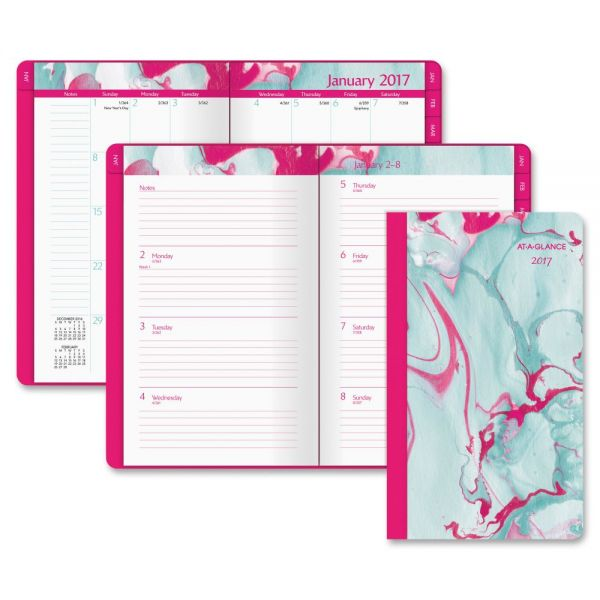 At-A-Glance Paper Marbling Tapebound Weekly/Monthly Planner