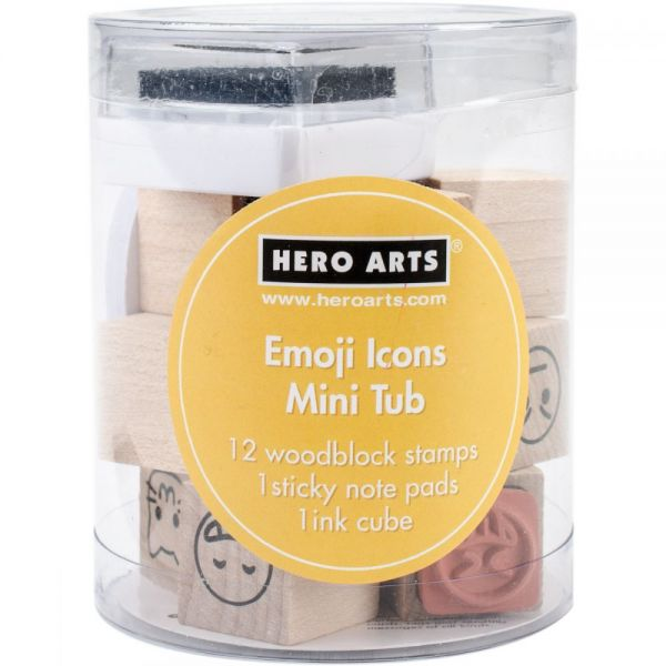 "Hero Arts Mounted Rubber Stamp Mini Tub Set 3.25""X2.5"""