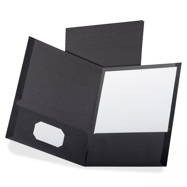 Oxford Black Two Pocket Folders