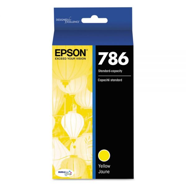 Epson 786 DURABrite Ultra Yellow Ink Cartridge (T786420)