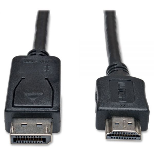 Tripp Lite DisplayPort to HD Cable Adapter HDCP 1080P M/M 6'