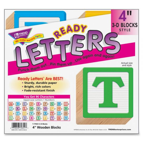 Trend 3-D Wooden Blocks Uppercase Ready Letters