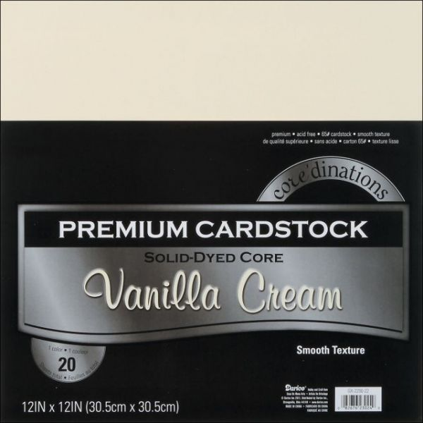 Core'dinations Premium Smooth Vanilla Cream Cardstock