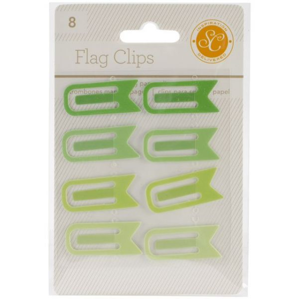 "Essentials Flag Clips .5""X1.25"" 8/Pkg"