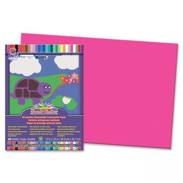 SunWorks Heavyweight Pink Construction Paper