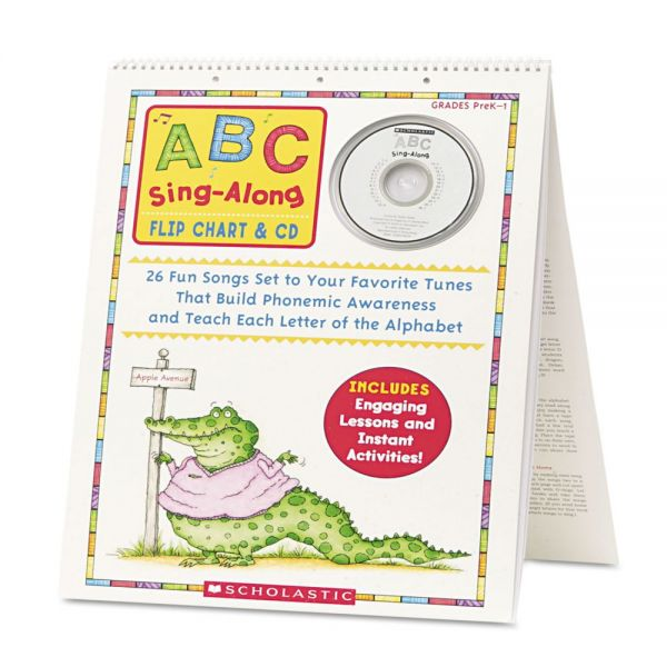 Scholastic ABC Singalong Flip Chart, 26 pages, CD