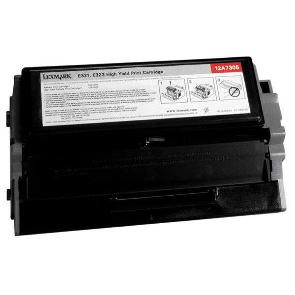 Lexmark 12A7305 Black High Yield Toner Cartridge