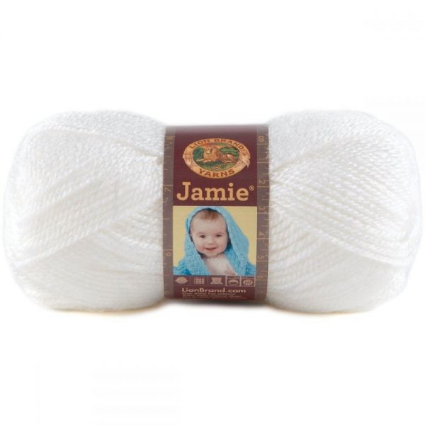 Lion Brand Jamie Yarn - Angel White