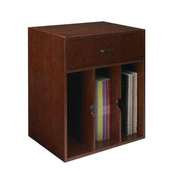 Tiffany Industries Sorrento Vertical Hutch Organizer, 17-1/2w x 12-1/2d x 19-3/4h, Bourbon Cherry