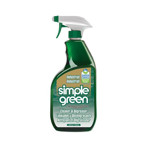Simple Green Crystal Industrial Cleaner/Degreaser, 24oz Bottle, 12/Carton