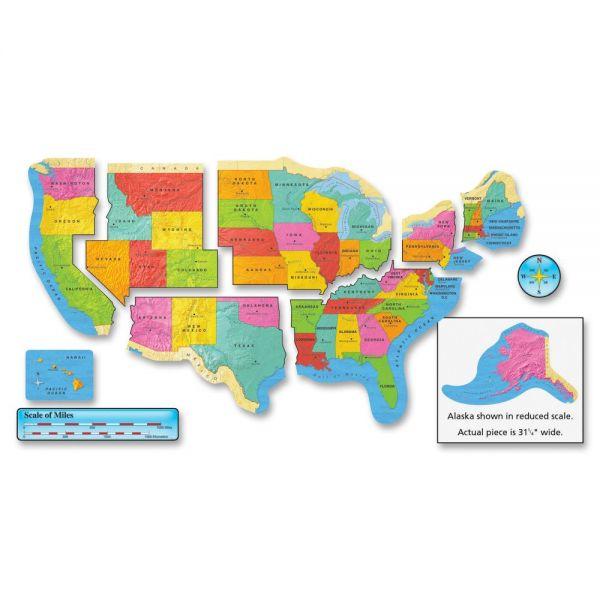 Trend US Map Bulletin Board Set